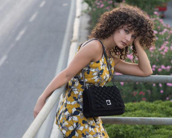 Miss Polyplexi Monaco Black Shoulder/Cross-body Bag