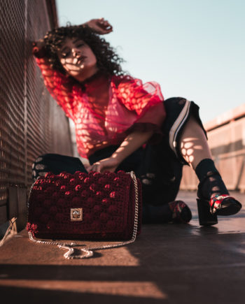 Miss Polyplexi Monaco Bordeaux Shoulder/Cross-body Bag