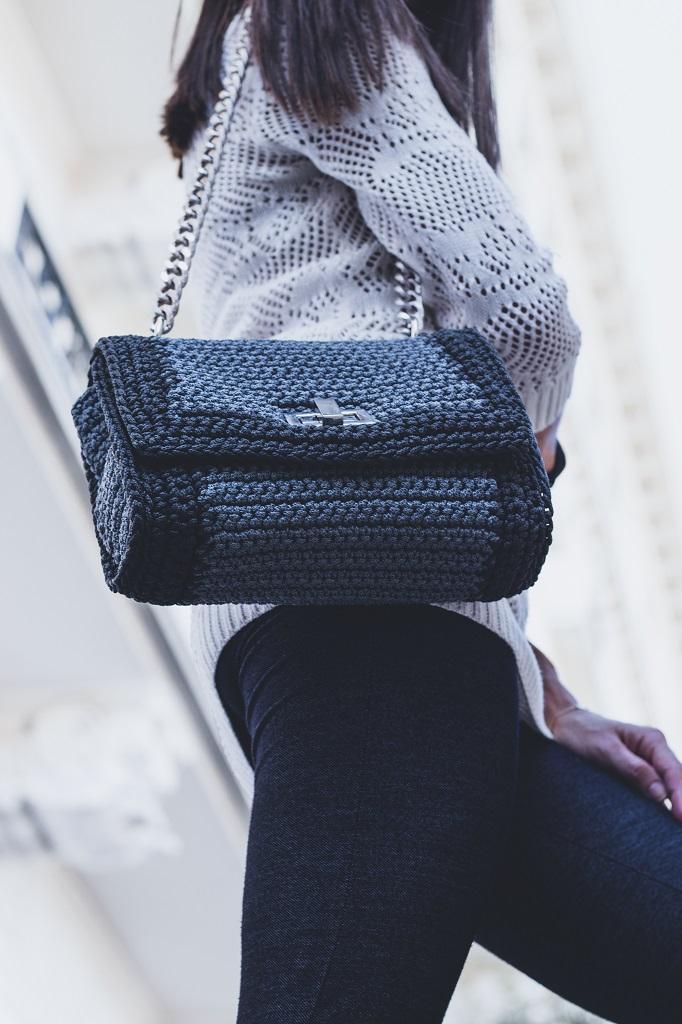 Miss Polyplexi Kleoniki Grey Shoulder Bag