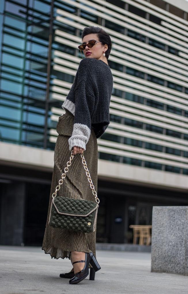 Miss Polyplexi Olivia Olive Green Shoulder Bag