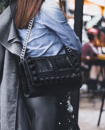 Miss Polyplexi Kassiani Black Shoulder Bag