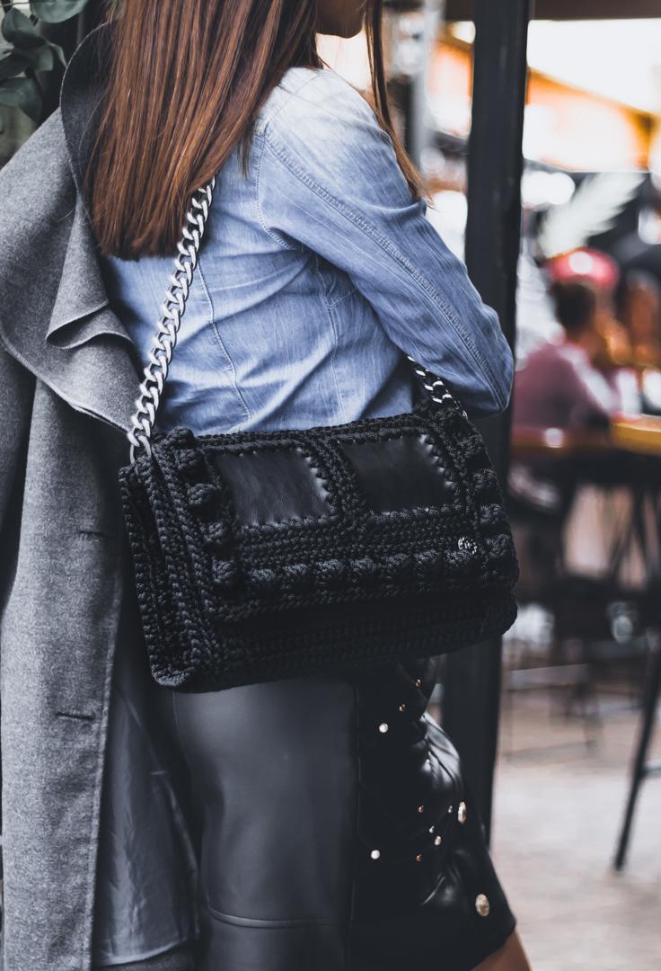 Miss Polyplexi Kassiani Black Shoulder Bag