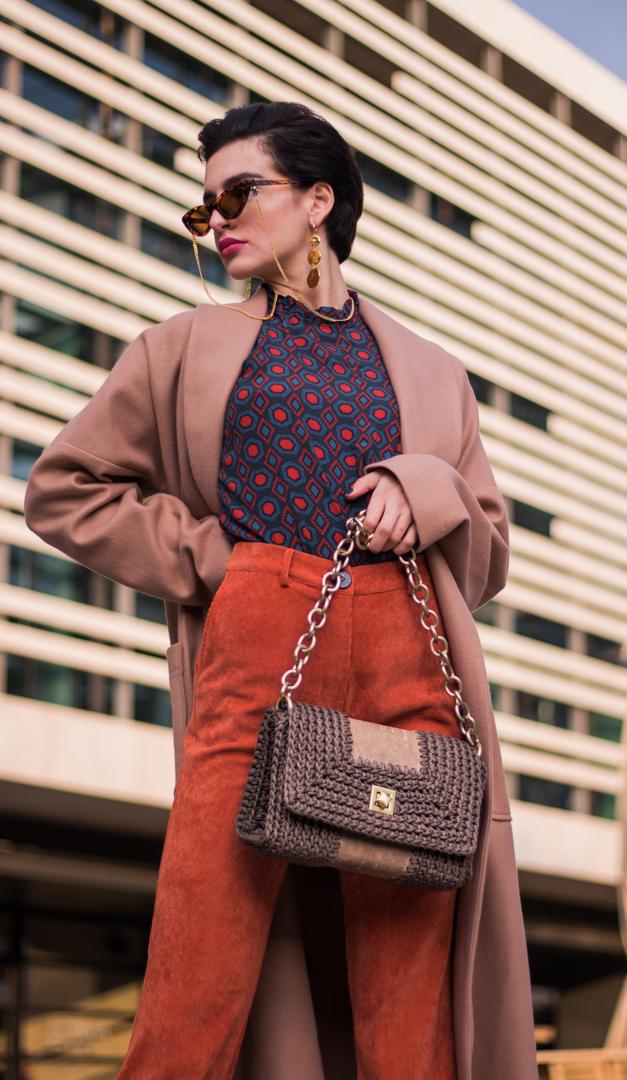 Miss Polyplexi Roxani Mocha Shoulder Bag