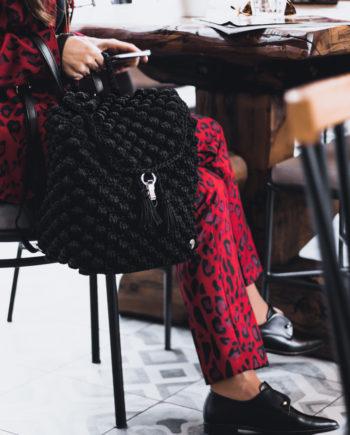 Miss Polyplexi Zeina Black Back Pack