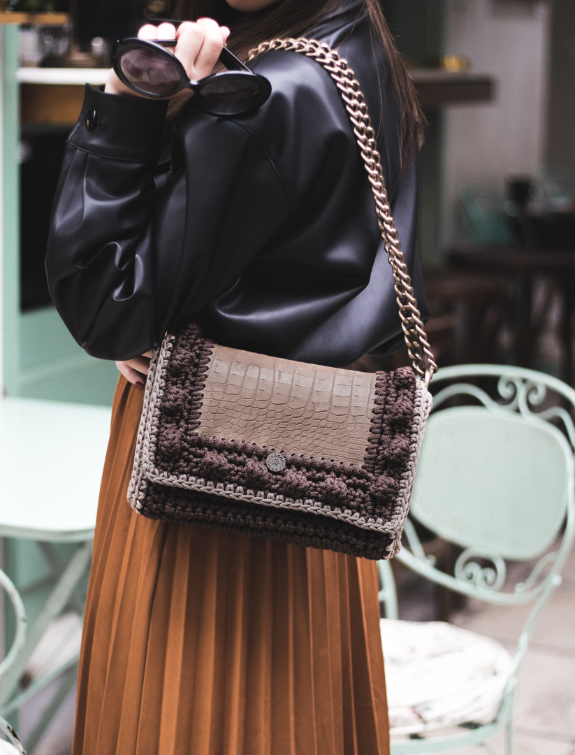 Miss Polyplexi Lydia Brown Mocha Shoulder Cross-body Bag