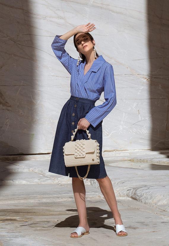 Miss Polyplexi Annabelle Ecru Shoulder Cross-body Bag