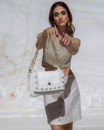 Miss Polyplexi Lydia White Shoulder/Cross-body Bag