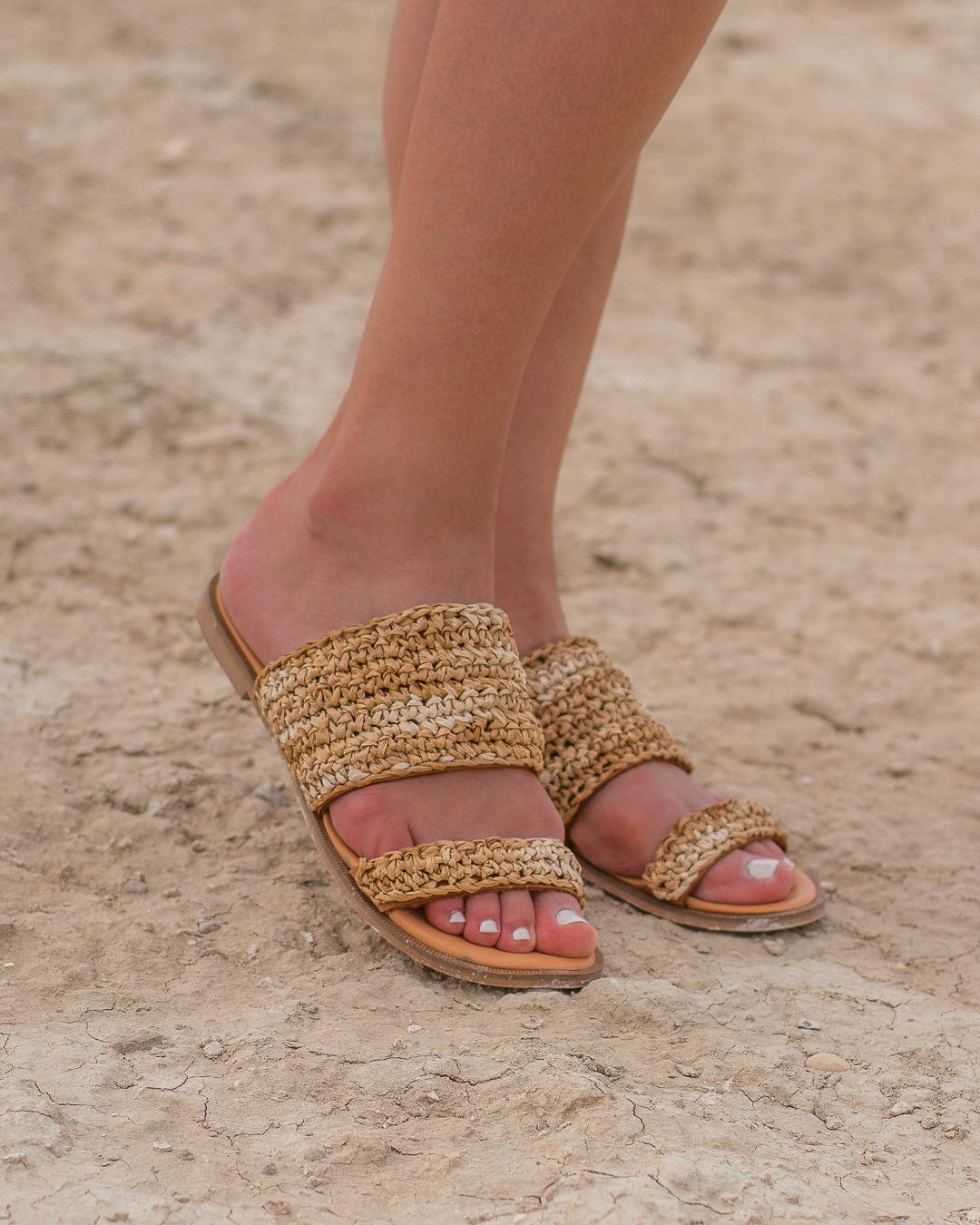 Miss Polyplexi Flora Raffia Sandals