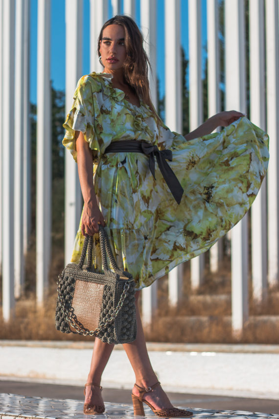 Miss Polyplexi Ophelia Olive Green Tote Bag