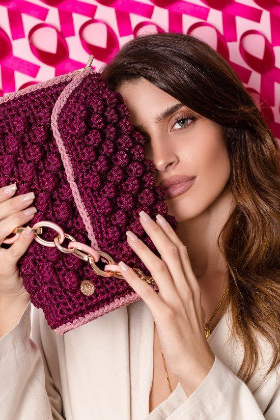 Miss Polyplexi Alma Crimson Pink Shoulder Bag