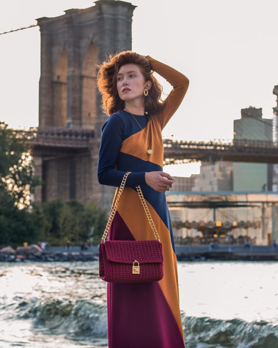 Miss Polyplexi Chelsea Burgundy Shoulder Bag