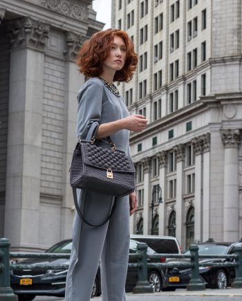 Miss Polyplexi Tribeca Grey Tote Cross-body Bag