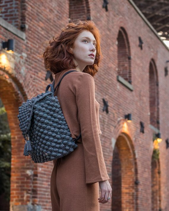 Miss Polyplexi Zeina Sparkling Grey Backpack
