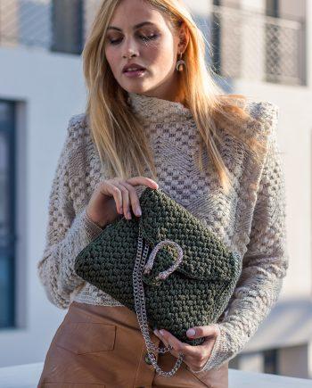 Miss Polyplexi Diana Forest Green Shoulder Cross-body Bag