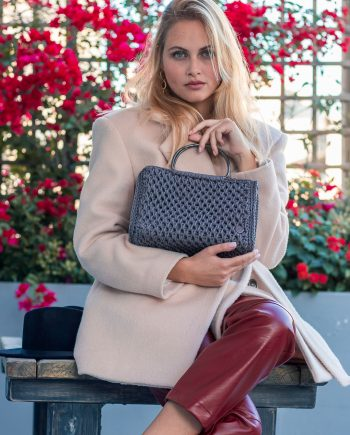 Miss Polyplexi Melina Grey Tote Bag