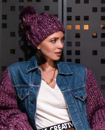 Miss Polyplexi Nordic Purple Beanie