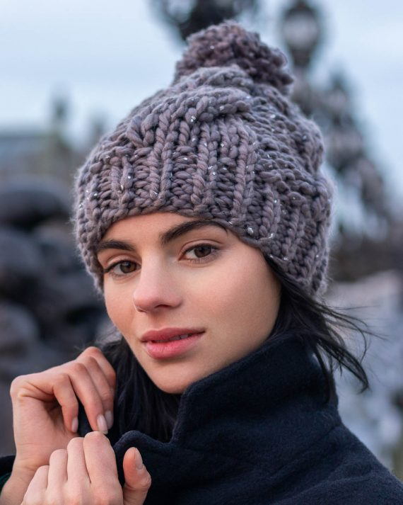 Miss Polyplexi Nordic Grey Beanie