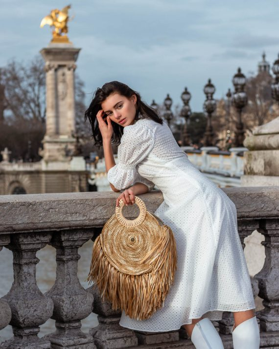 Miss Polyplexi Adele Raffia Tote Bag