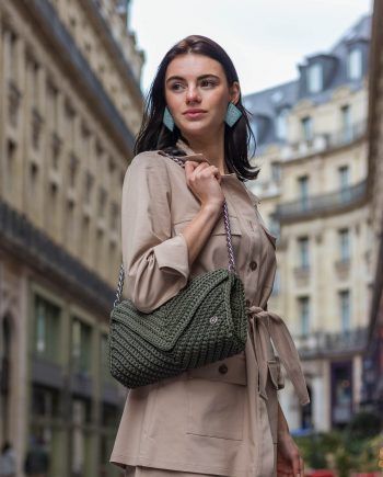 Miss Polyplexi Josephine Olive Green Shoulder Bag