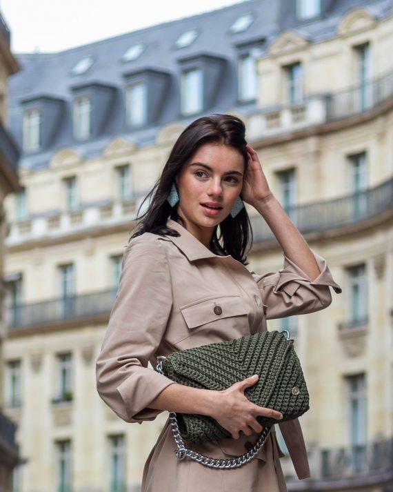 Miss Polyplexi Josephine Olive Green Shoulder Bag
