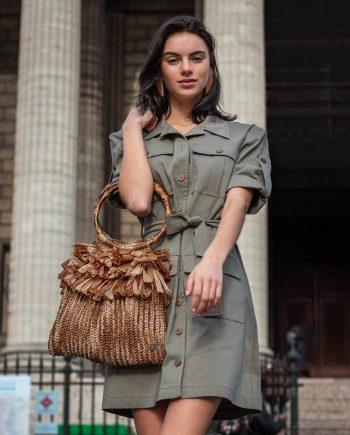Miss Polyplexi Juliette Raffia Tote Bag
