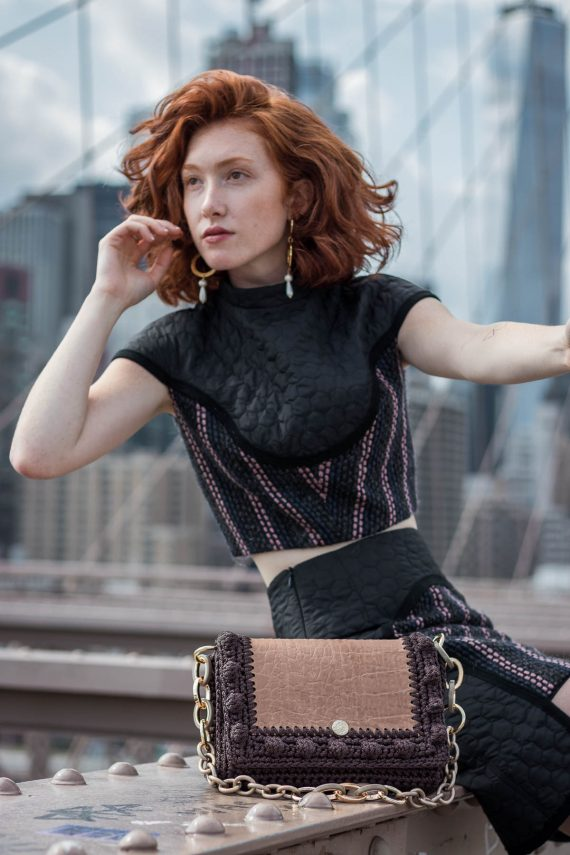 Miss Polyplexi Lydia Brown Shoulder Bag
