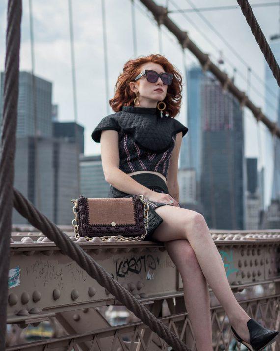 Miss Polyplexi Lydia Brown Shoulder Bag