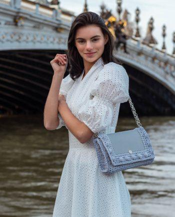 Miss Polyplexi Lydia Ice Grey Shoulder Cross-body Bag