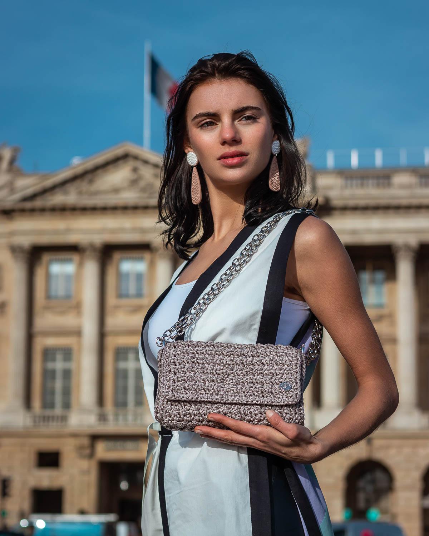 Miss Polyplexi Mathilde Sugar Beige Shoulder Cross-body Bag