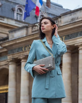 Miss Polyplexi Odette Grey Shoulder Cross-body Bag