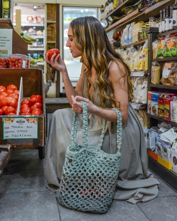 Miss Polyplexi Planet Multicolour Mint Net Bag