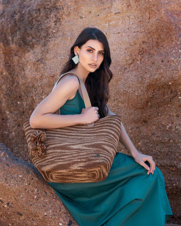Miss Polyplexi Ariel Raffia Shoulder Bag