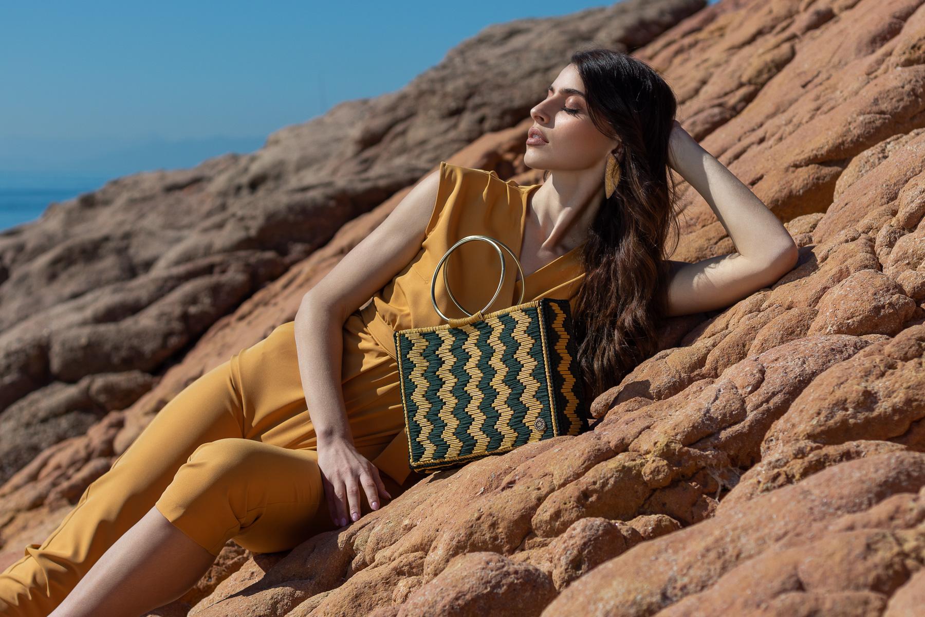 Miss Polyplexi Nerissa Bright Yellow Pine Green Tote Bag