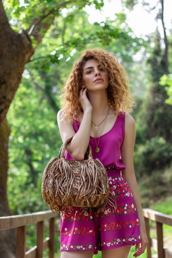 Miss Polyplexi Coralia Raffia Tote Bag