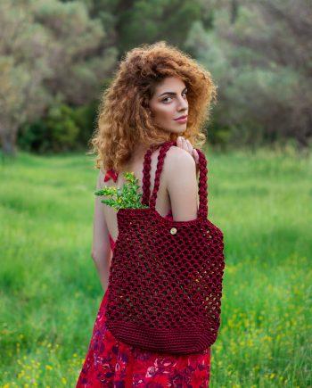 Miss Polyplexi Planet Cherry Red Net Bag