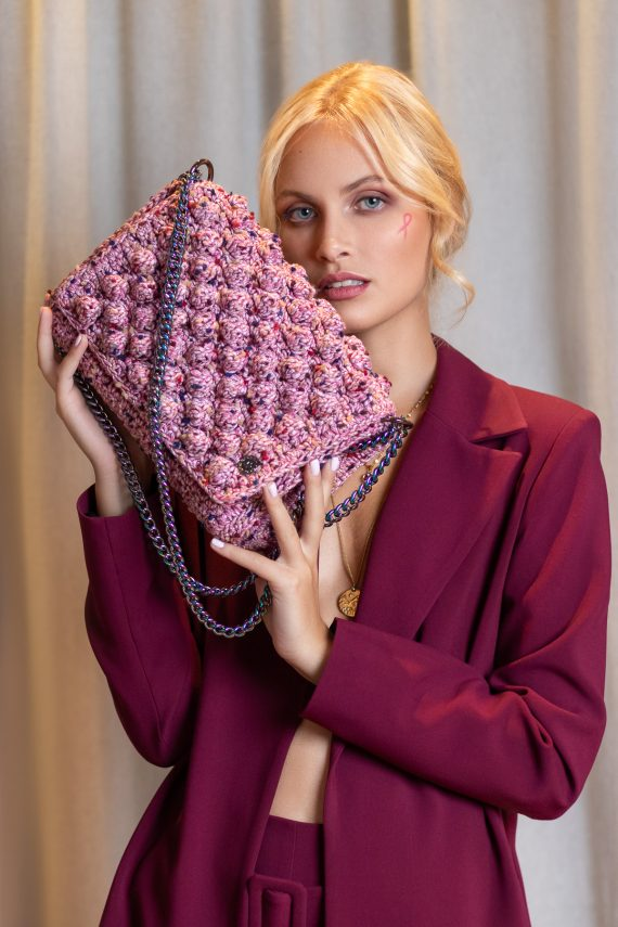 Miss Polyplexi Alma Pink Shoulder Cross-body Bag
