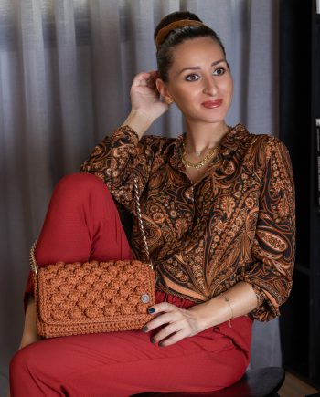 Miss Polyplexi Thalia Vintage Orange Shoulder Bag