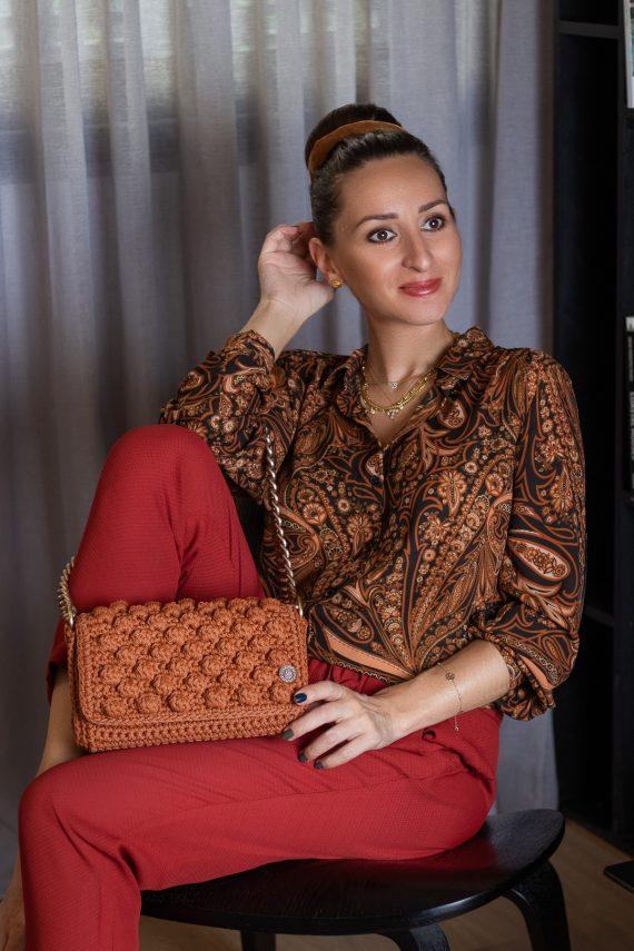Miss Polyplexi Thalia Vintage Orange Shoulder Bag
