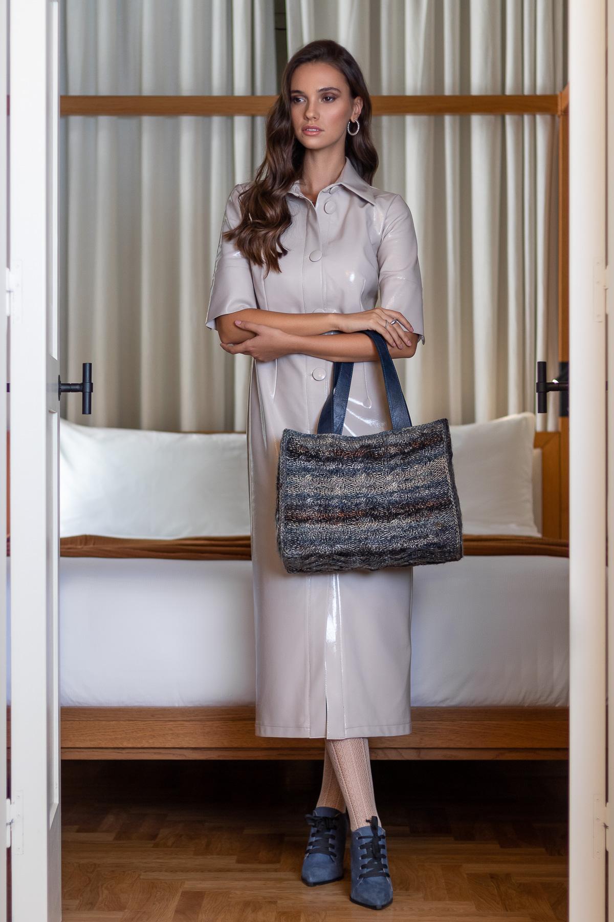 Miss Polyplexi Ateneo Multicolour Blue Tote Bag