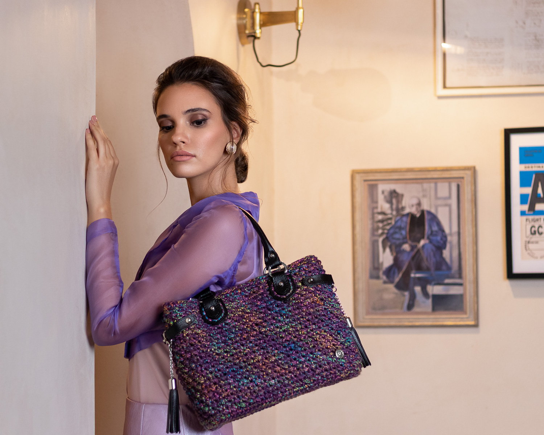 Miss Polyplexi Bryneo Lilac Multicolour Tote Bag