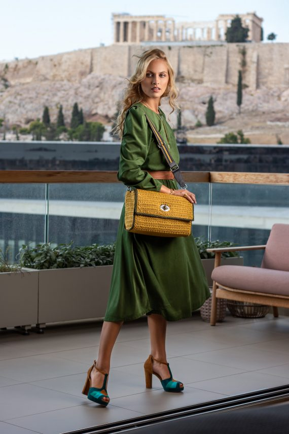 Miss Polyplexi Nasmyth Mustard Yellow Shoulder Cross-body Bag