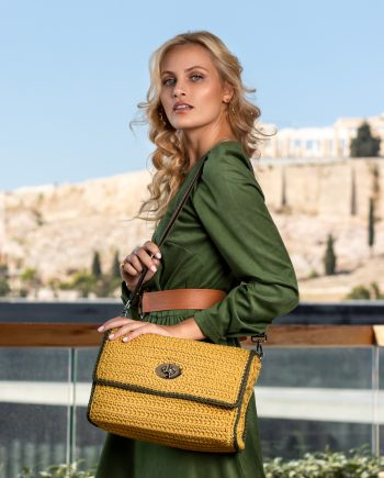 Miss Polyplexi Nasmyth Mustard Yellow Shoulder Cross-body Bag
