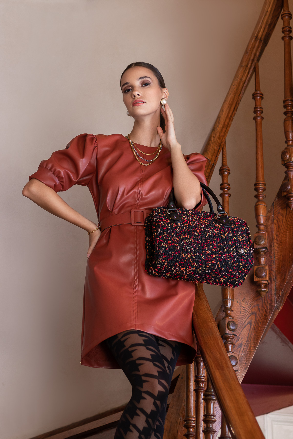 Miss Polyplexi Styneo Black Multicolour Tote Bag