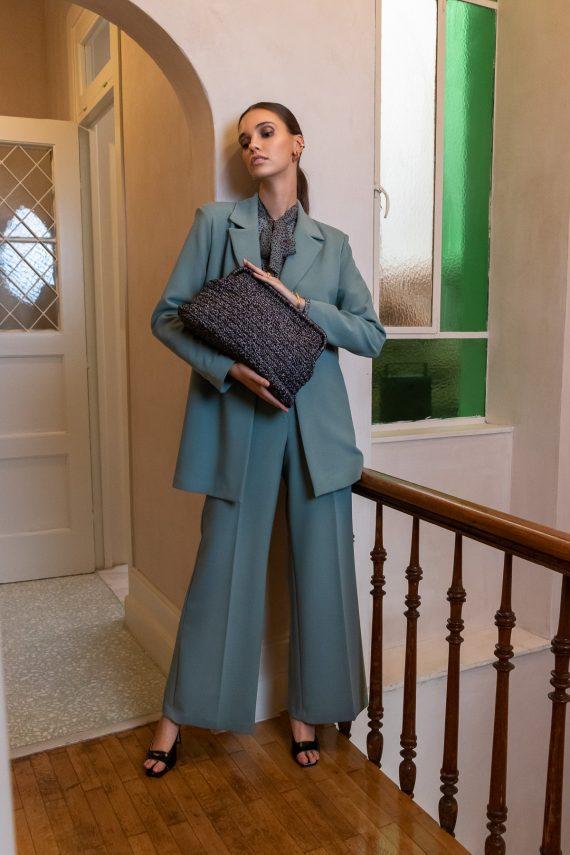 Miss Polyplexi Torneo Grey Brown Clutch Bag