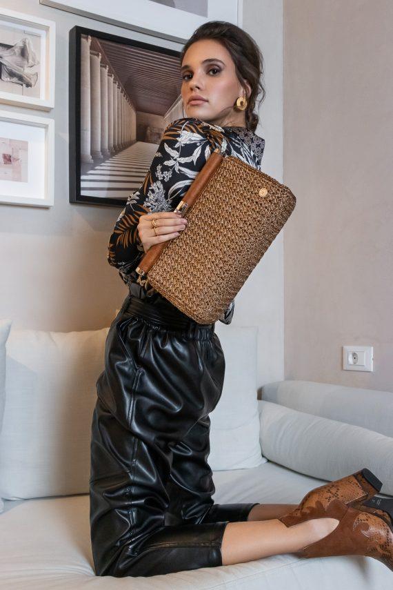 Miss Polyplexi Borneo Gold Clutch Bag