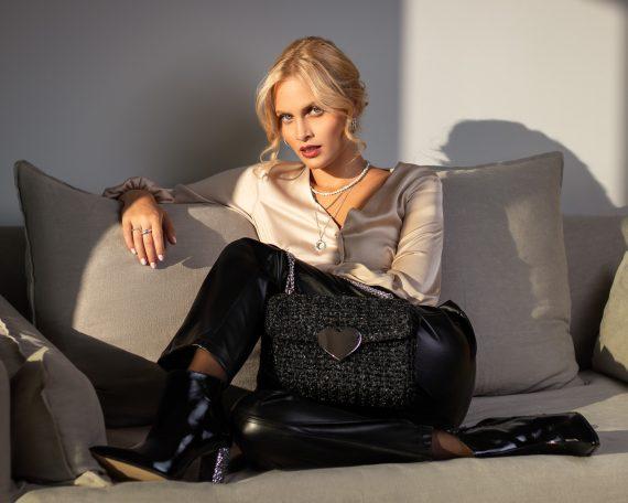 Miss Polyplexi Cattaneo Dark Grey Shoulder Cross-body Bag