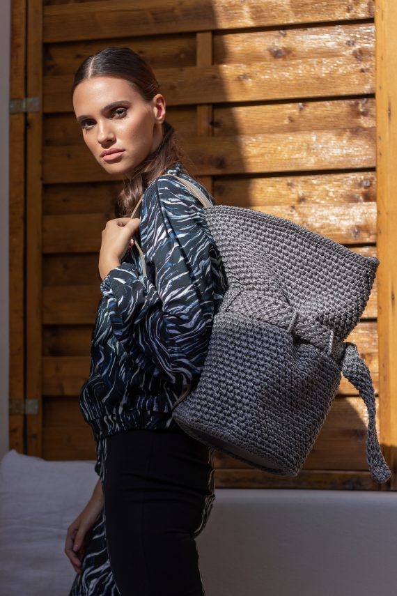 Miss Polyplexi Ovid Silky Grey Backpack