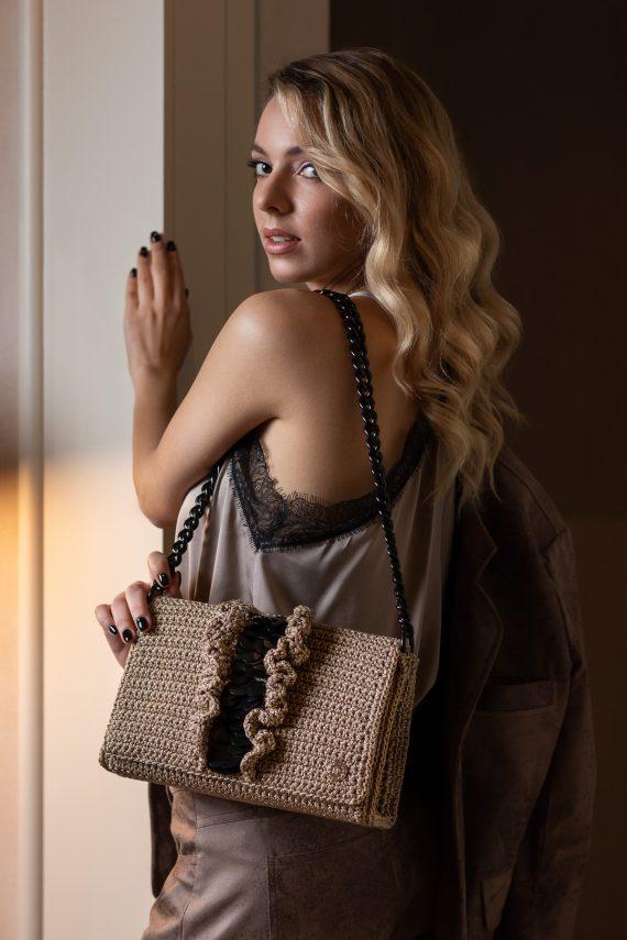 Miss Polyplexi Palladia Gold Shoulder Bag