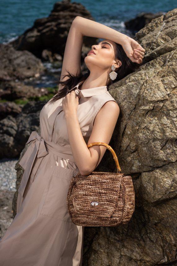 Miss Polyplexi Eusmilia Raffia Tote Bag