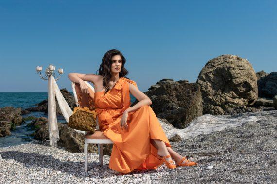 Miss Polyplexi Palanca Orange Brown Tote Bag